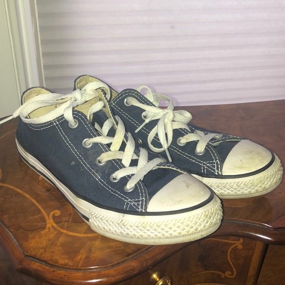Blue converse sneakers used worn twice